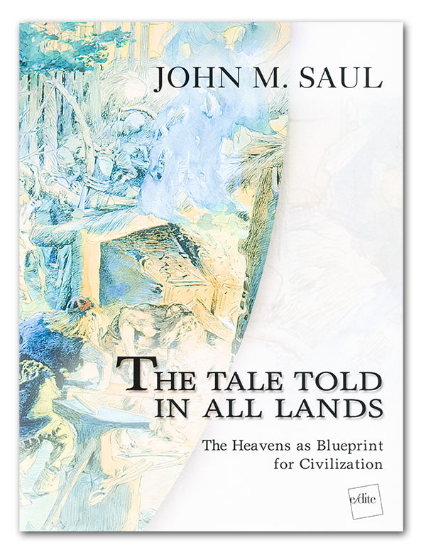 Lotus Gemology Bangkok: Front cover of The Tale Told in All Lands by John Saul.