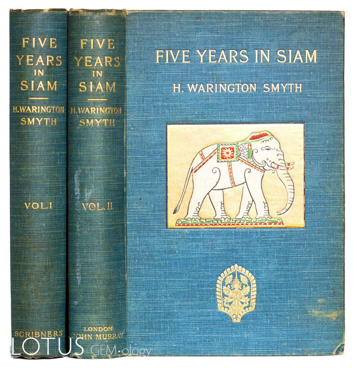 The finest 19th century resource on ruby and sapphire mining at Chanthaburi and Trat (Thailand) and Pailin (Cambodia) is H. Warington Smyth's Five Years in Siam (1898). It is highly sought after for its many plates, maps and decorative cover. Click on the photo for a larger image.
