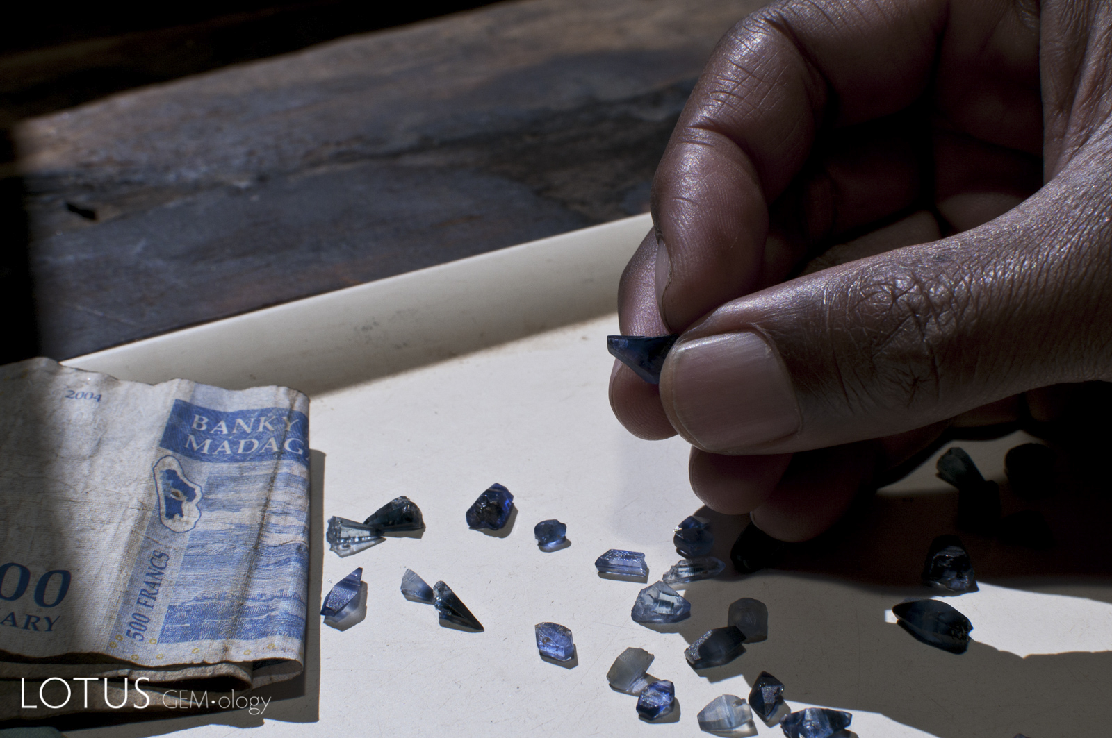 Fine blue sapphire crystals from Andranondambo in Madagascar's deep south. When these gems first hit the international market in the mid-1990s, they were often confused with fine sapphires from Kashmir, Sri Lanka and Myanmar. And they still are…