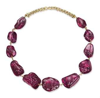 Mughal spinel necklace