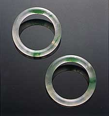 Glass jadeite bangles