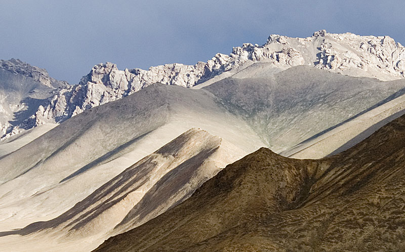 Lunar landscape near the Snezhny ruby mines in eastern Tajikistan. Photo: Richard W. Hughes