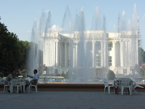 Fountain in Dushanbe