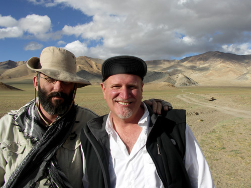 Vincent Pardieu and Richard Hughes at the Tajik ruby mines