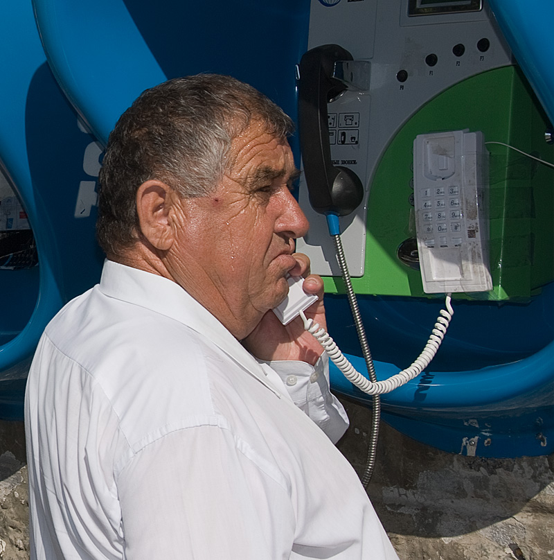 Big Brother is still listening A public phone in Dushanbe. Photo: Richard W. Hughes