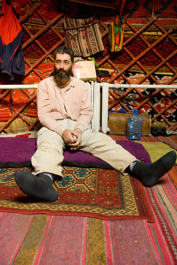 Vincent bin Laden enjoying a bit of downtime in Yurtistan. Photo: Richard W. Hughes