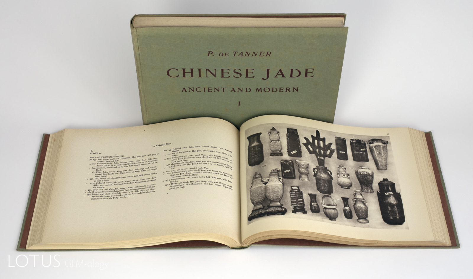 The two-volume 1925 de Tanner set, Chinese Jade: Ancient and Modern, is one of the most collectable books on jade