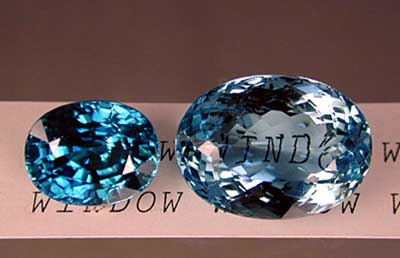 "If a gem is cut too shallow, light will pass straight through, rather than returning to the eye as brilliance. This is termed a ""window"" (right). In well-cut gems, most light returns as brilliance (left). Brilliant areas are those showing bright reflections. Extinction is used to describe dark areas where little or no light returns to the eye. Photo by Wimon Manorotkul/Palagems.com."