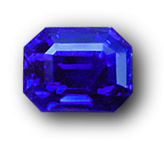 This 4-ct. plus Kashmir sapphire recently sold by Pala International exhibits the velvety blue color that has made stones from this source without peer in the world. Photo: John McLean; Gem: Pala International