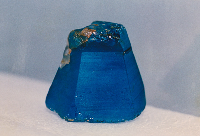 502-ct Burmese sapphire crystal. This was unearthed on Feb. 22, 1994, at Khabine, near Gwebin, in Burma's Mogok Stone Tract