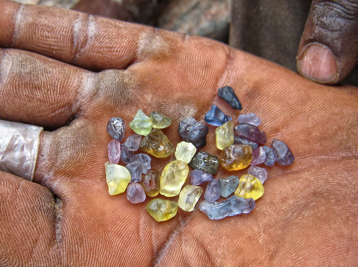 A handful of hope in Tanzania's Tunduru district. Photo: Richard W. Hughes