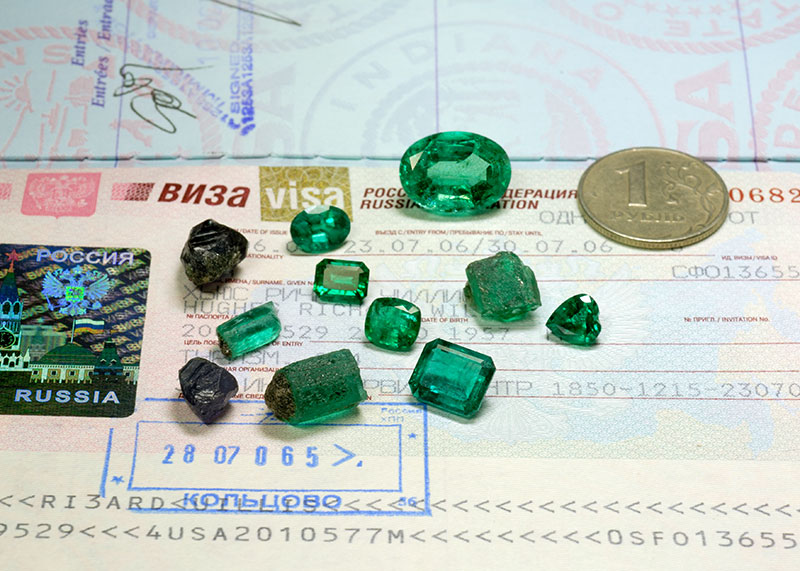 Gorgeous emerald and alexandrite from the Russian motherland
