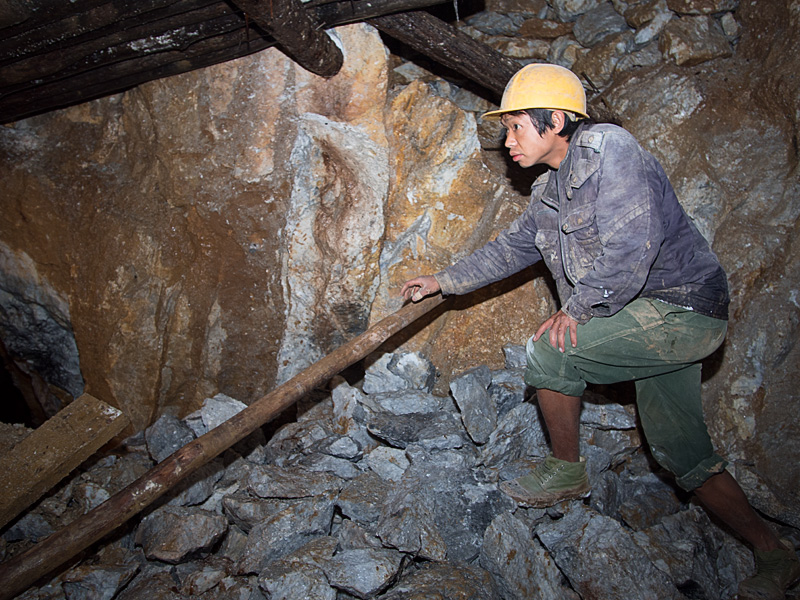 Figure 7. Quarrying in Bawpadan, in Myanmar's Mogok Stone Tract. Photo: E. Billie Hughes