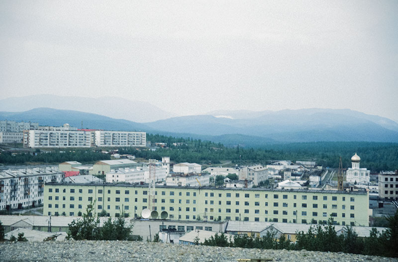 The Polar Ural town of Kharp, jump-off point for the Polar jadeite deposits. Photo: © Richard W. Hughes